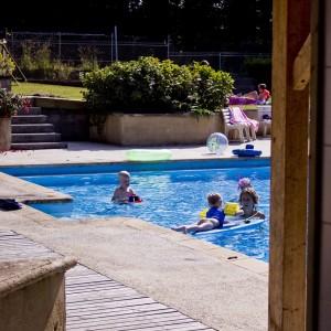 La piscine du Domaine de Keravel - salles de réception