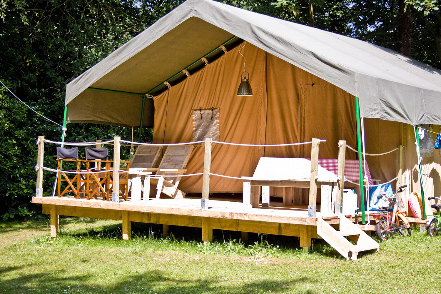 Safari tents, for 2 to 5 people